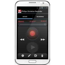 Philips SpeechExec dictation recorder til Android designet til email og FTP