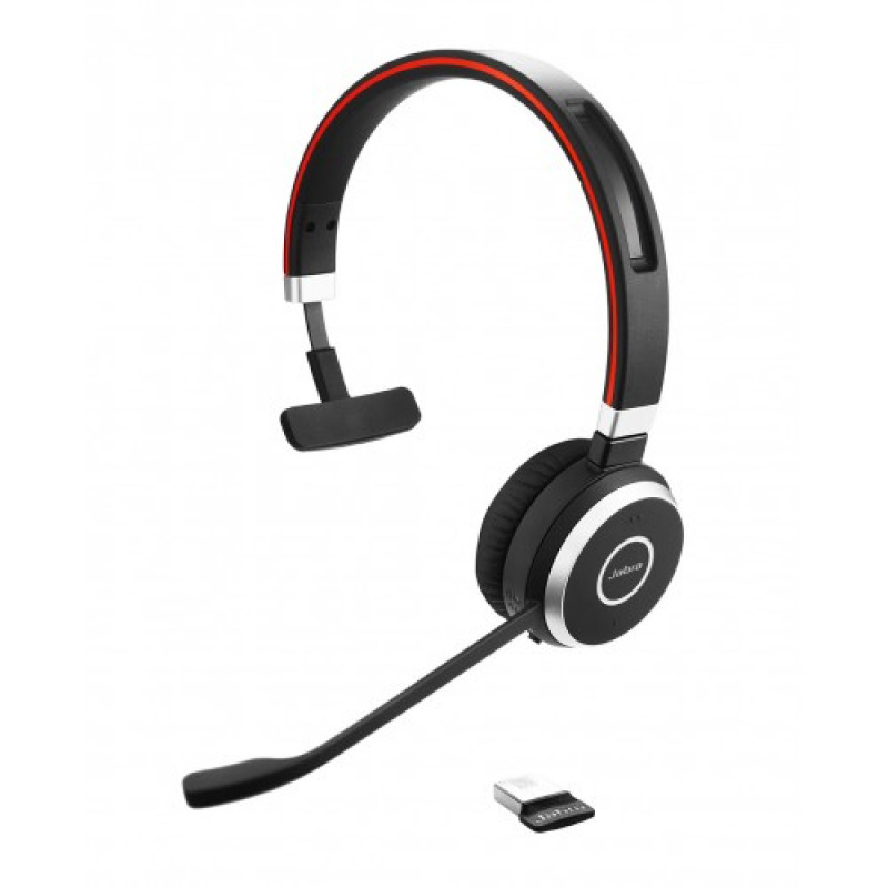 Jabra Evolve 65 Uc Mono Wireless Headset With Jabra Link: Trådløst Til Lync
