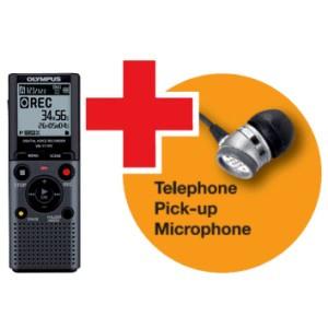 Olympus VN-711PC diktafon med TP-7 Telefon Pickup