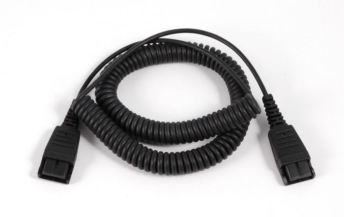 Jabra spiral forlænger kabel til jabra lednings headset 2m.