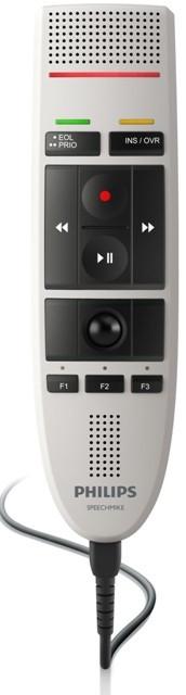 Philips LFH3300 SpeechMike III Stregkode og tryk knap Integrator Version