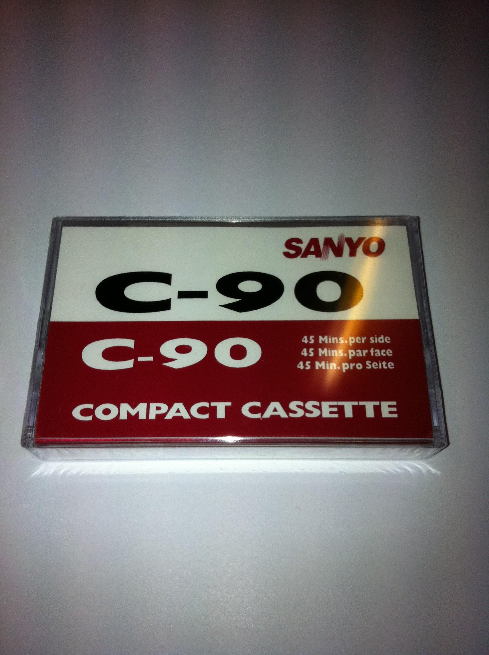 Sanyo C-90 Compact casssette 2 x 45 minutter