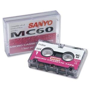 Sanyo MC60 Mikro cassette 2 x 30 minutter