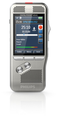 Philips DPM-8000 Digital Diktermaskine menu
