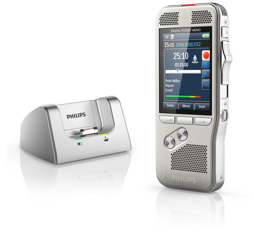 Philips DPM-8000 Digital Diktermaskine med docking station