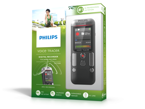 Philips DVT2500 diktafon til noter emballage