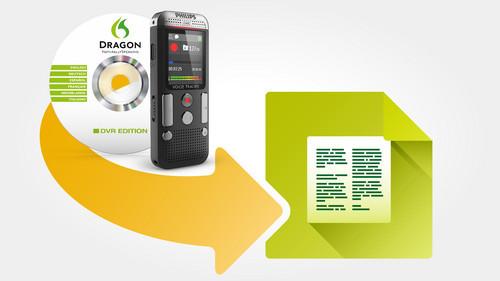 Philips DVT2700 diktafon med Dragon Speech Recognition til Word