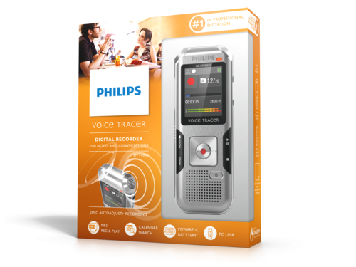 Philips DVT4000 diktafon emballage