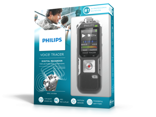 Philips DVT6000 diktafon emballage