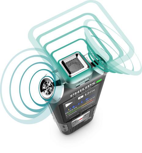 Philips DVT6000 diktafon 3 mikrofoner med autoadjust+ og autozoom