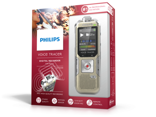 Philips DVT6500 diktafon emballage