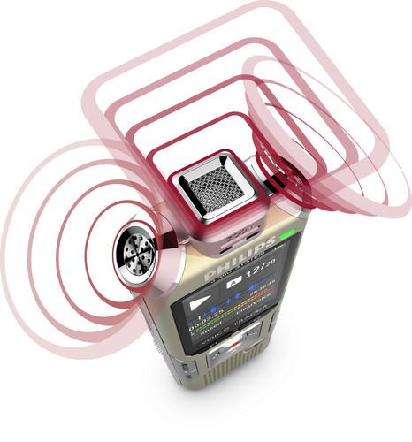 Philips DVT6500 diktafon mikrofon musik