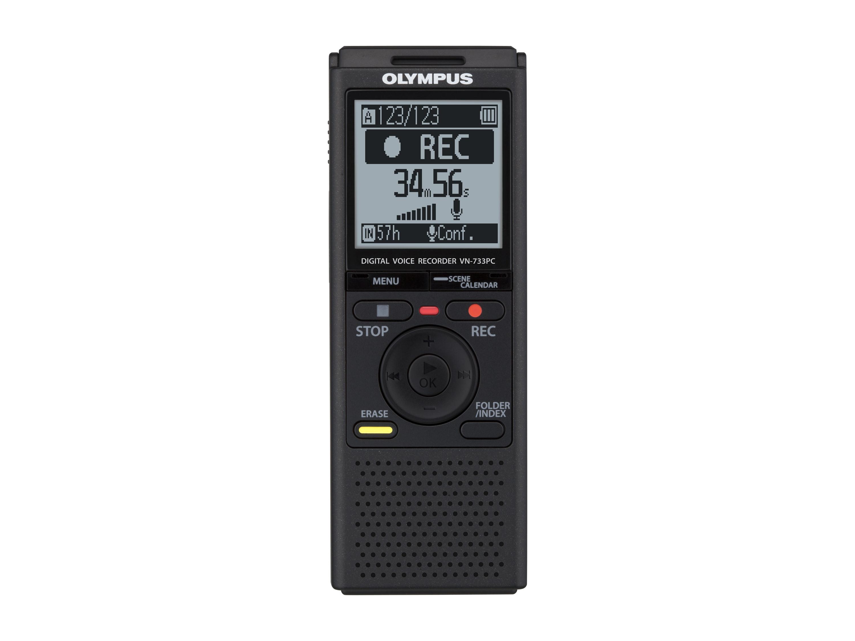 Olympus VN-733PC diktafon med ME52 retningsbestemt mikrofon
